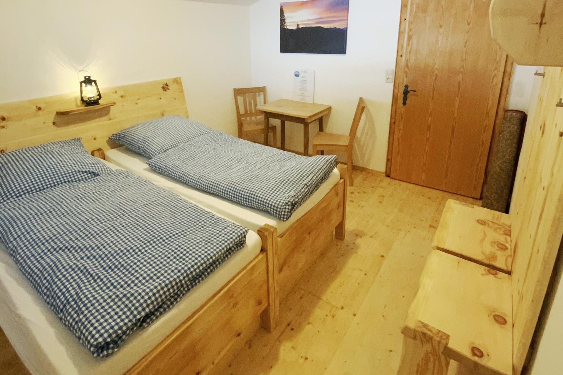 Schlafen auf der Hütte Winklmoosalm